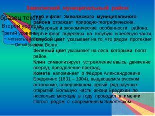 Заволжский муниципальный район Герб и флаг Заволжского муниципального района