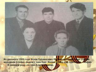 Из далекого 1969 года Исхак Бурханович Ямбаев выглядит еще совсем молодым (сл