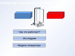 Генератор переменного тока Как это работает? Исследуем Модель генератора
