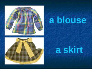 a blouse a skirt