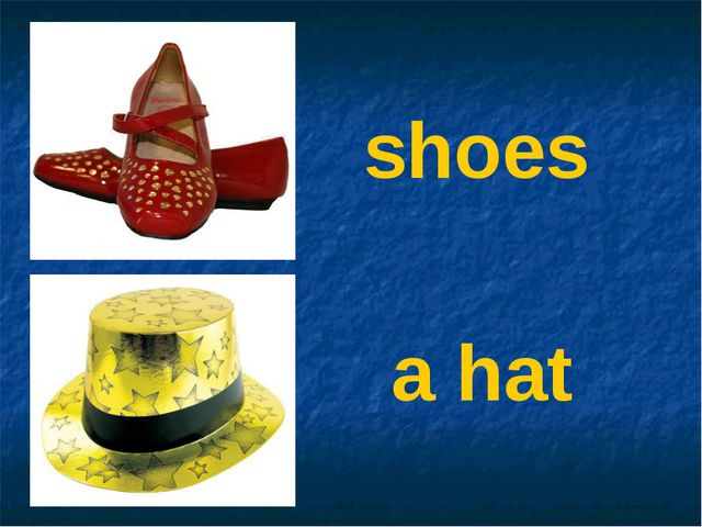 shoes a hat