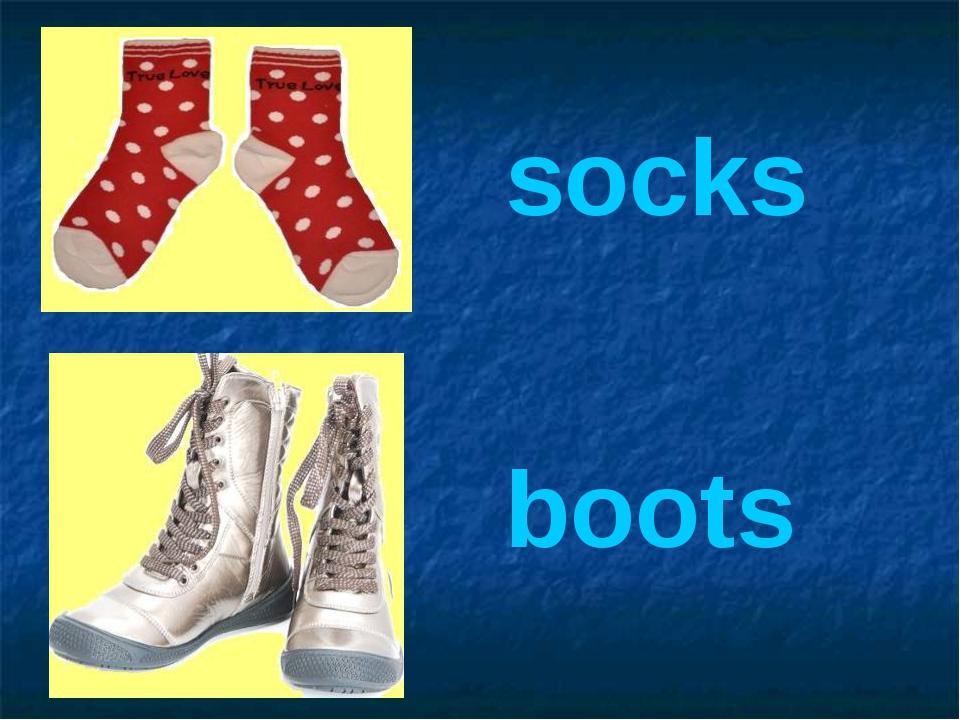 socks boots