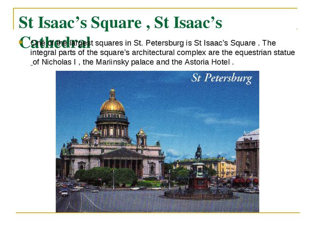 St Isaac's Square , St Isaac's Cathedral One of the largest squares in St. Pe...