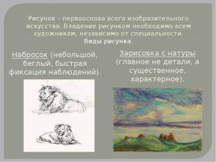 Рисунок – первооснова всего изобразительного искусства. Владение рисунком нео