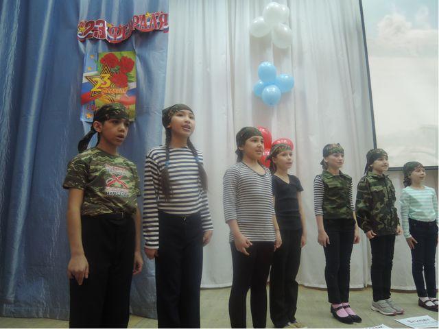 В конце песни дети хором читают стихотворение.(текст стихотворения см. на пос...
