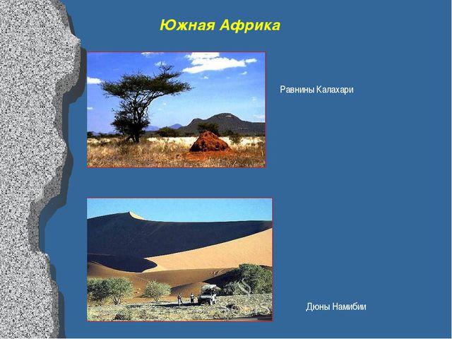 Южная Африка Дюны Намибии Равнины Калахари