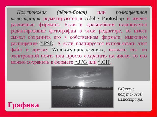 Графика Полутоновая (чёрно-белая) или полноцветная иллюстрация редактируются...