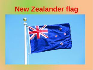 New Zealander flag