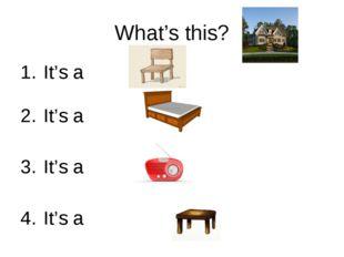 What's this? It's a It's a It's a It's a