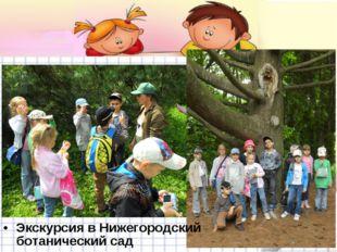 Экскурсия в Нижегородский ботанический сад