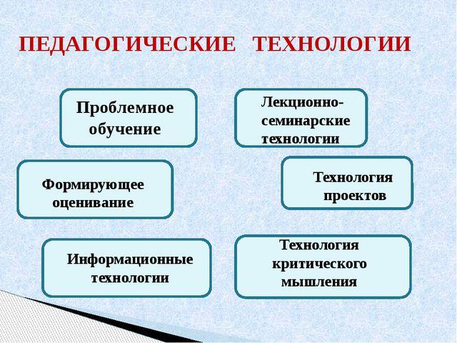 ПЕДАГОГИЧЕСКИЕ ТЕХНОЛОГИИ Проблемное обучение Информационные технологии Лекци...