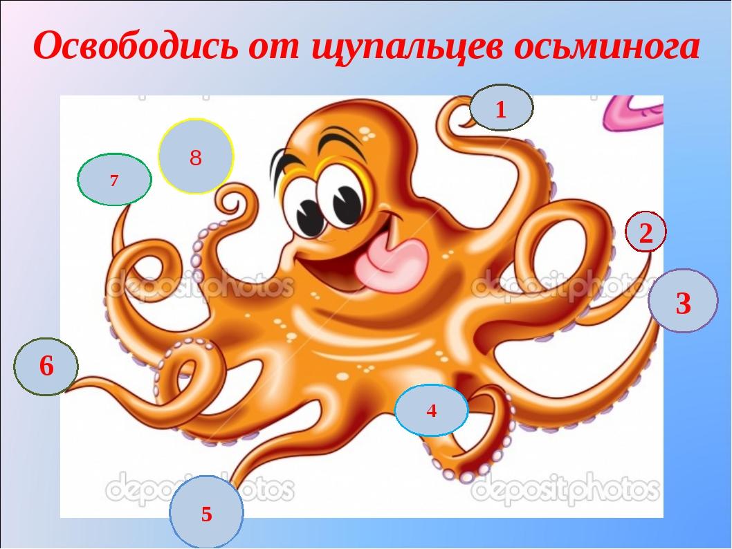 Освободись от щупальцев осьминога 6 7 8 5 4 2 1 3