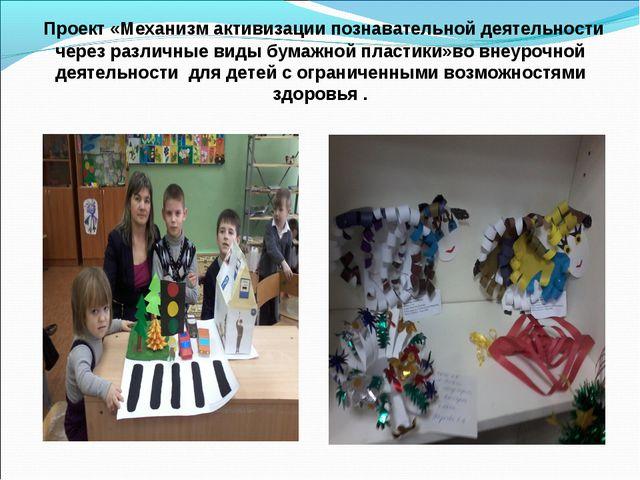 Проект «Механизм активизации познавательной деятельности через различные вид...