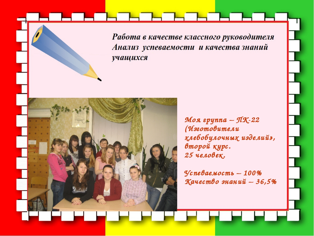 Моя группа – ПК-22 (Изготовители хлебобулочных изделий», второй курс. 25 чело...