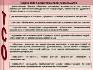 Задачи ТСО в педагогической деятельности разнообразят формы обучения, расширя