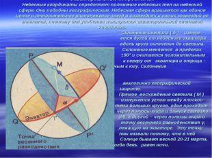 Экваториальные координаты. Небесные координаты определяют положение небесных