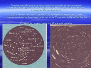 Полярная звезда почти не меняет своего положения относительно горизонта. Все