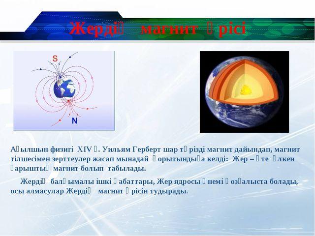 Жердің магнит өрісі Ағылшын физигі XIV ғ. Уильям Герберт шар тәрізді магнит д...