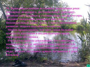 6. Выявлены основные источники загрязнения реки: кольцевая автодорога, автомо
