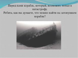 Перед нами корабль, который, возможно, попал в катастрофу. Ребята, как вы дум