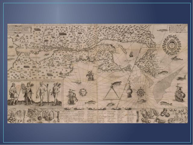 Страна ирокезов.СамюэльдеШамплен. Карта Новой Франции. 1612.