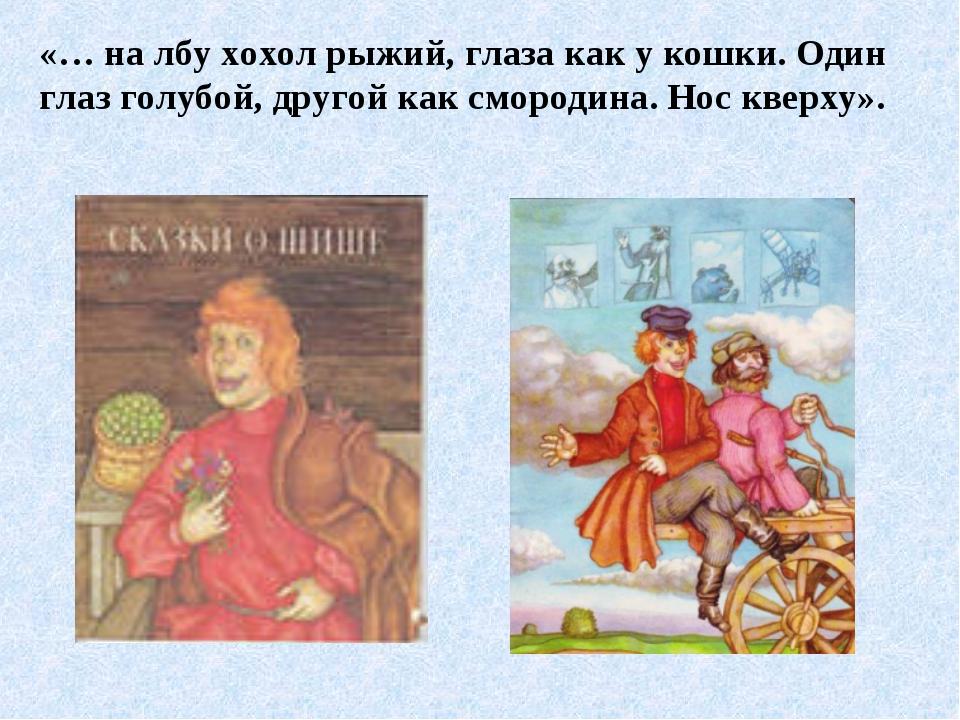 «… на лбу хохол рыжий, глаза как у кошки. Один глаз голубой, другой как сморо...