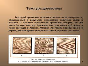Лешуков Сергей Иванович * Текстура древесины Текстурой древесины называют рис