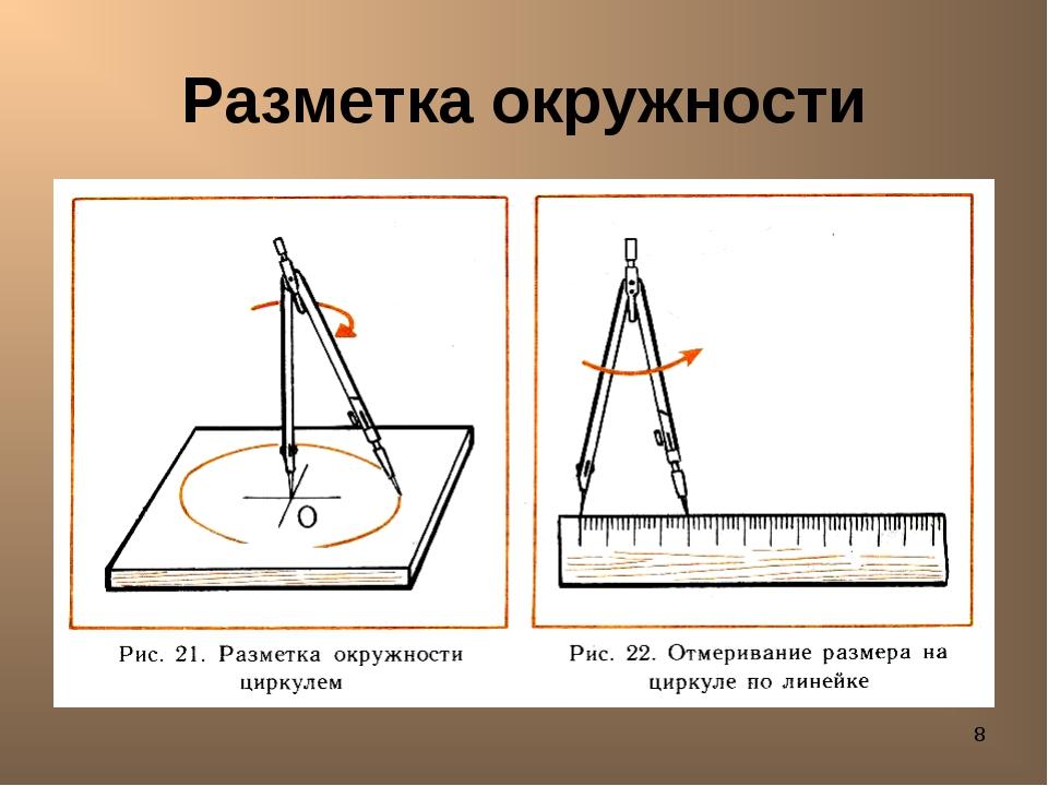 * Разметка окружности