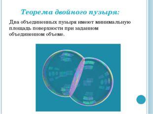 Теорема двойного пузыря: Два объединенных пузыря имеют минимальную площадь по