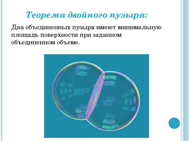 Теорема двойного пузыря: Два объединенных пузыря имеют минимальную площадь по...