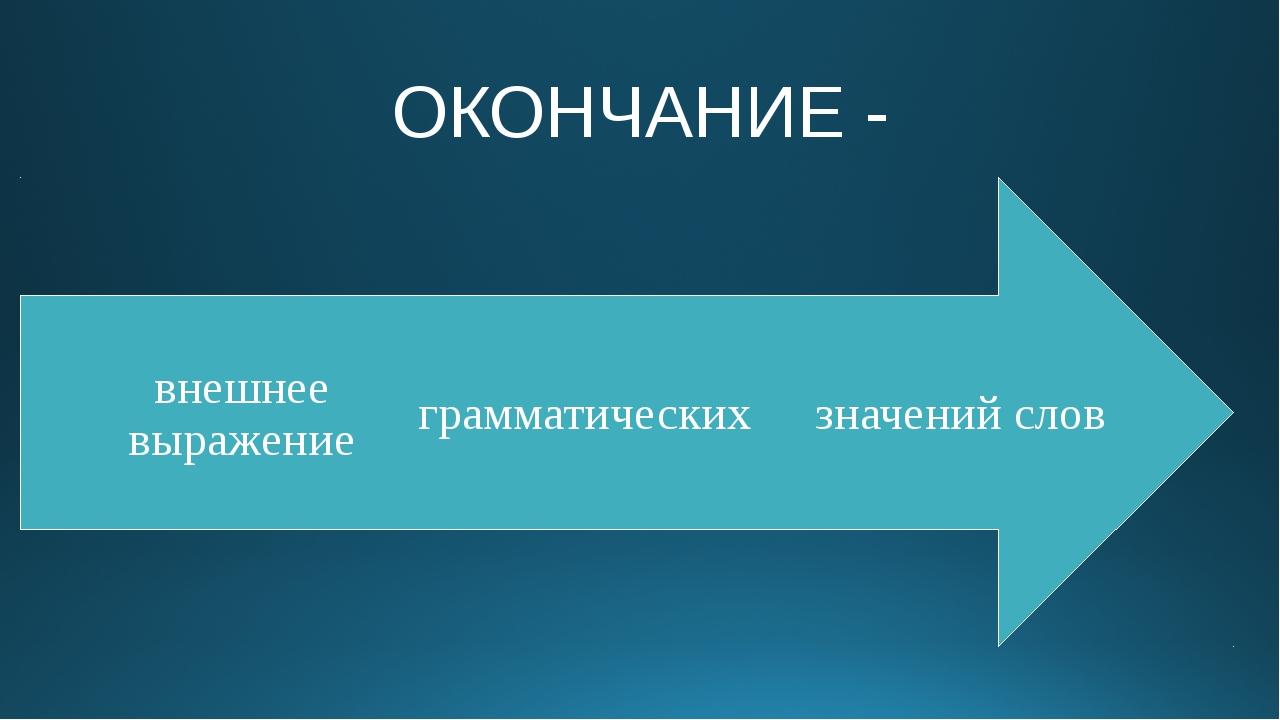 ОКОНЧАНИЕ -