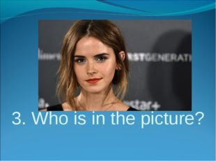 3. Who is in the picture?