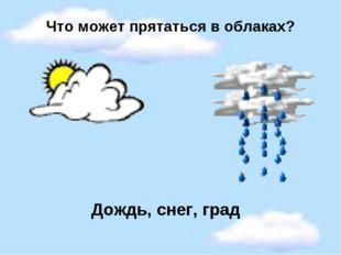 Что может прятаться в облаках? Дождь, снег, град