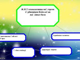 Ж.И.Т техналогияны меңгерген тәрбиешіден білім алған жаңашыл бала Дүниетанымы