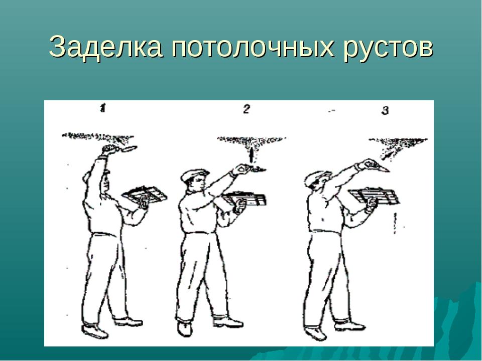 Заделка потолочных рустов