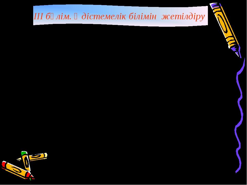 III бөлім. Әдістемелік білімін жетілдіру р/сТақырыптарыУақыты 1Жаңа білім...