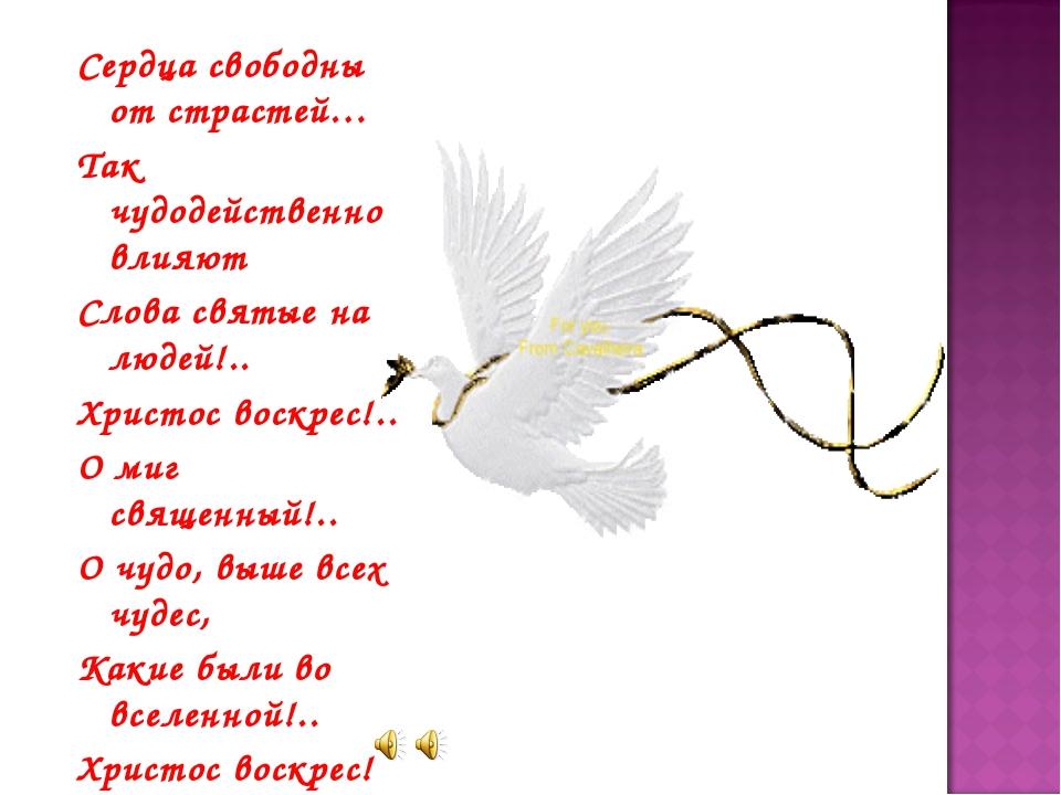 Сердца свободны от страстей… Так чудодейственно влияют Слова святые на людей!...