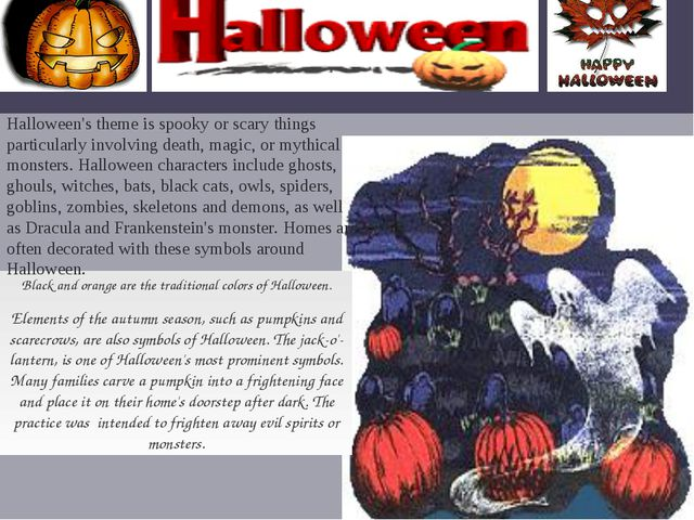 Black and orange are the traditional colors of Halloween. Elements of the au...