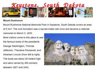 Keystone, South Dakota Mount Rushmore Mount Rushmore National Memorial Park i