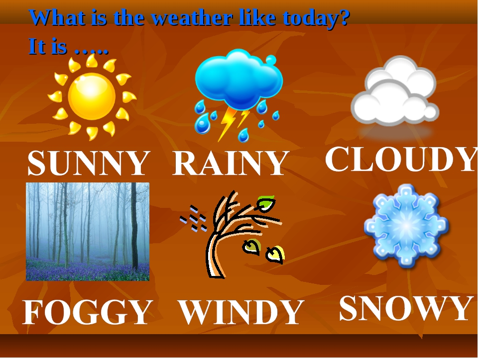 What is the weather like today? It is …..