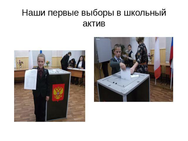 Наши первые выборы в школьный актив