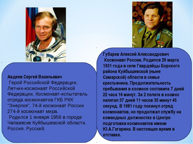 Авдеев Сергей Васильевич Герой Российской Федерации, Летчик-космонавт Российс...