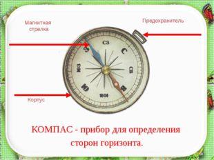 КОМПАС - прибор для определения сторон горизонта. Корпус Магнитная стрелка П