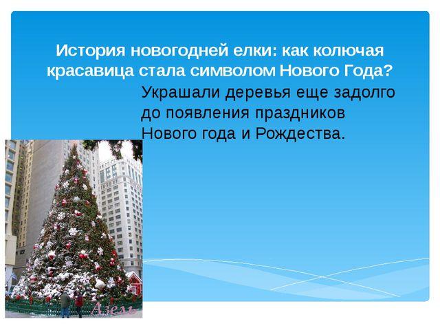 История новогодней елки: как колючая красавица стала символом Нового Года? Ук...