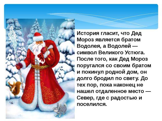 История гласит, что Дед Мороз является братом Водолея, а Водолей — символ Вел...
