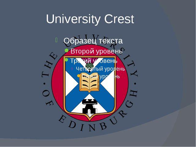 University Crest