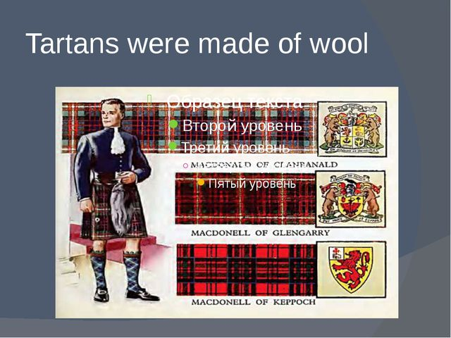 Tartans were made of wool