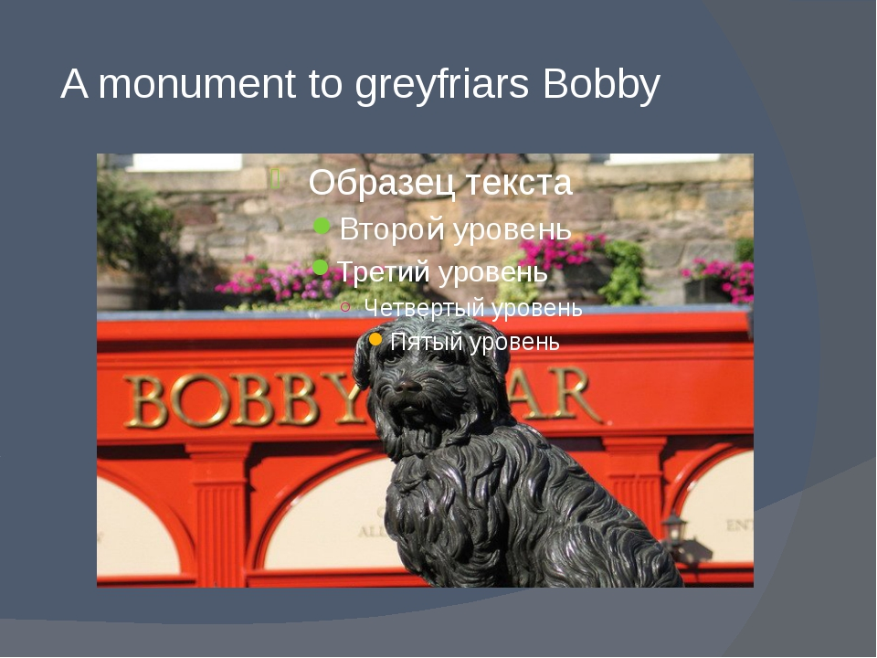 A monument to greyfriars Bobby