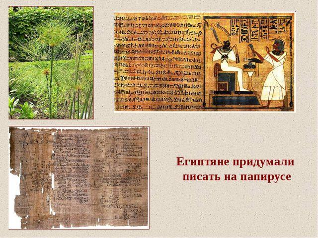 Египтяне придумали писать на папирусе