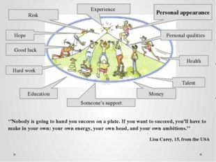 ''Nobody is going to hand you success on a plate. If you want to succeed, you